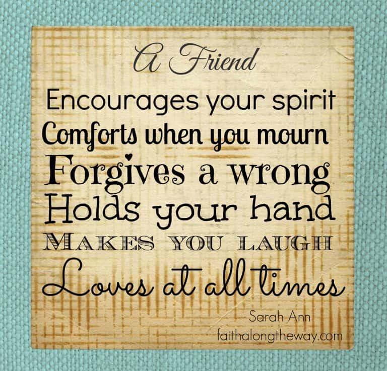Friendship Quote Printable: Weekend Words of Wisdom #8
