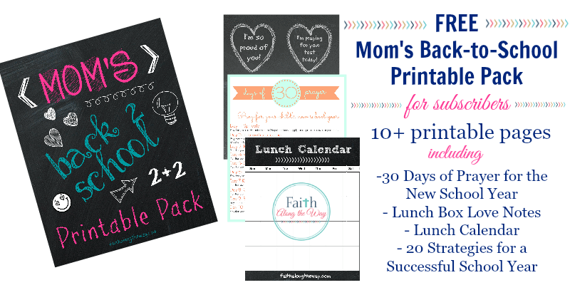 free printable pack Faith Along the Way