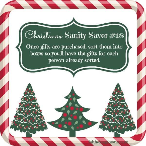 Christmas Sanity Saver #18 Faith Along the Way