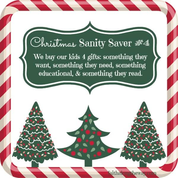 Christmas Sanity Saver 4 Faith Along the Way