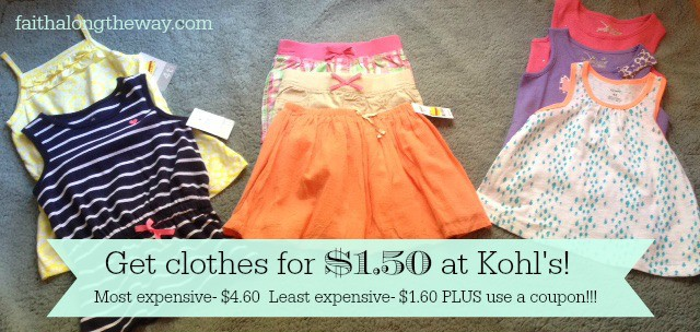 Get Clothes for $1.50 at Kohl's Faith Along the Way