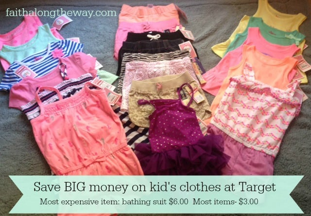 Save BIG $ on kid's clothes at Target Faith Along the Way
