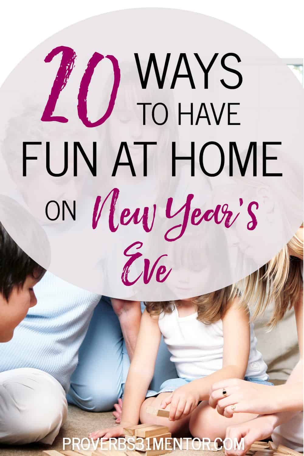 Family have fun at home on New Year's Eve