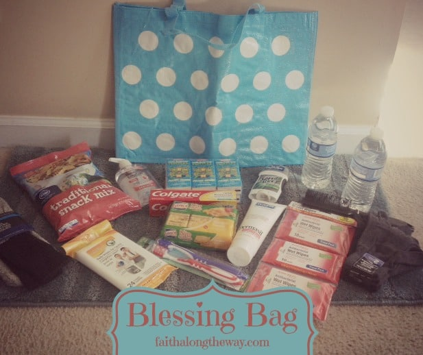 Blessing Bag Picture Faith Along the Way