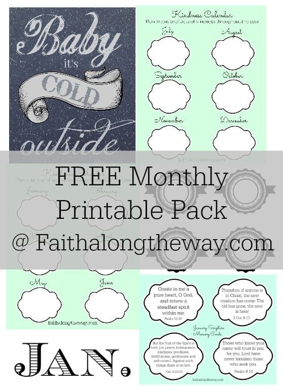 FREE Jan. Printable Pack Faith Along the Way