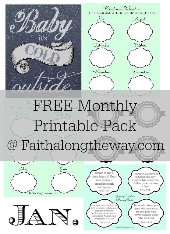 FREE Jan. Printable Pack Faith Along the Way