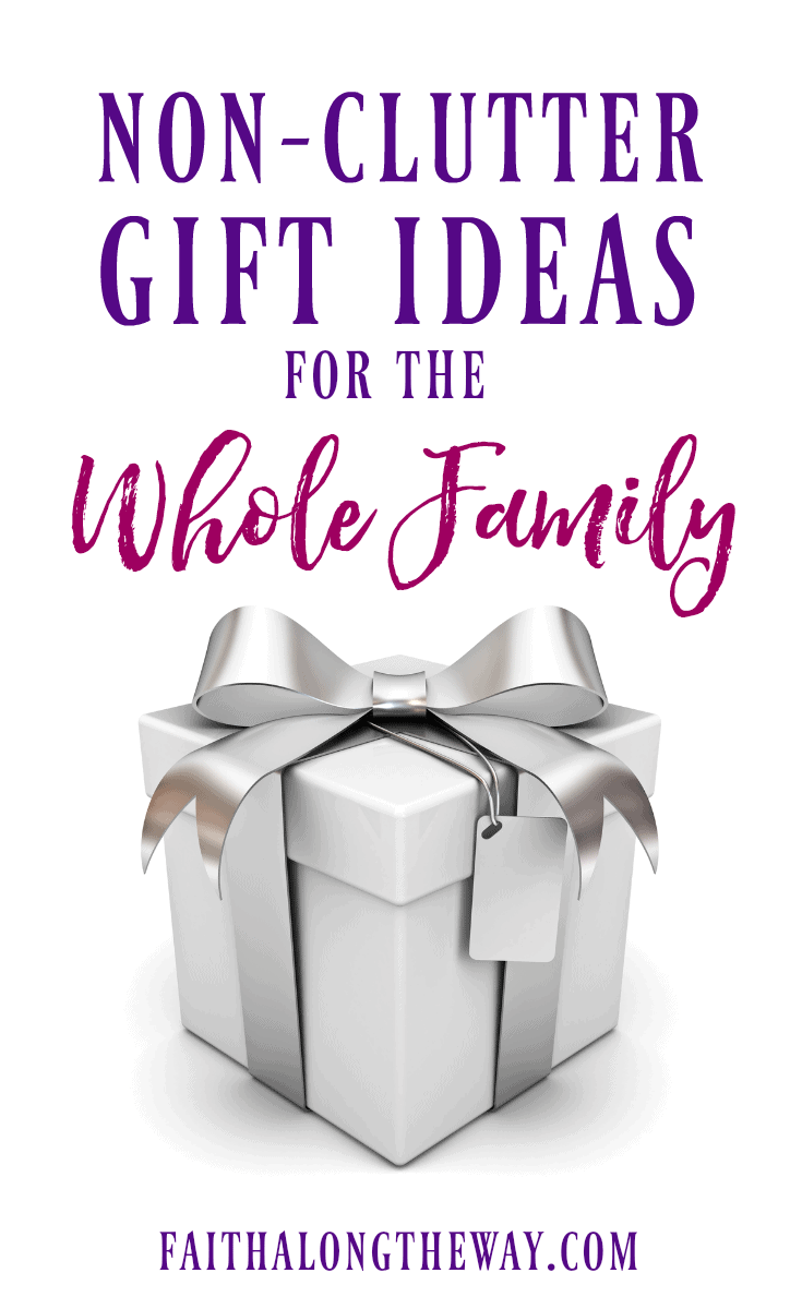 Make #gift giving easy with these non-clutter ideas everyone will love! #giftguide #familygifts #giftideas