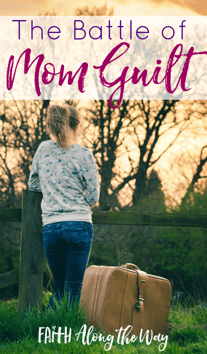 "Do you feel guilty in motherhood?  When we long for a break, an easier load, time to ourselves, feelings of dread and shame may threaten our hearts.  Here's how to keep ""Mom Guilt"" at bay for good!"