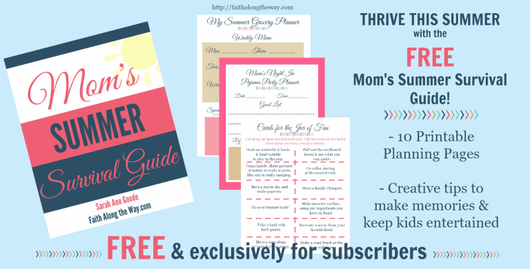 FREE E-Book & Planner: Mom's Summer Survival Guide