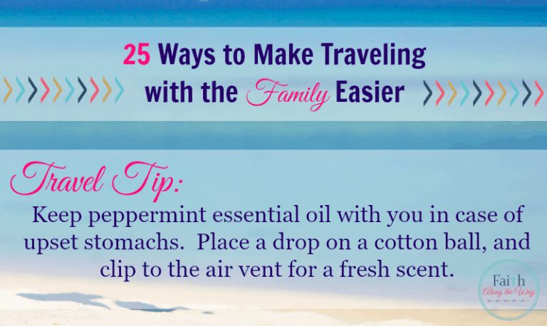 25 Ways to Make Traveling with the Family Easier