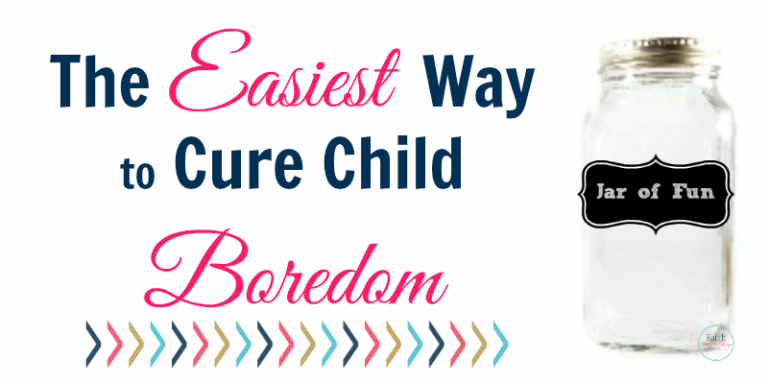 The Easiest Way to Cure Child Boredom {+FREE Printable!}