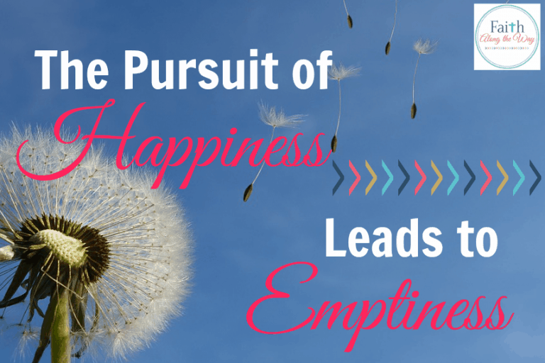 The Pursuit of Happiness Leads to Emptiness