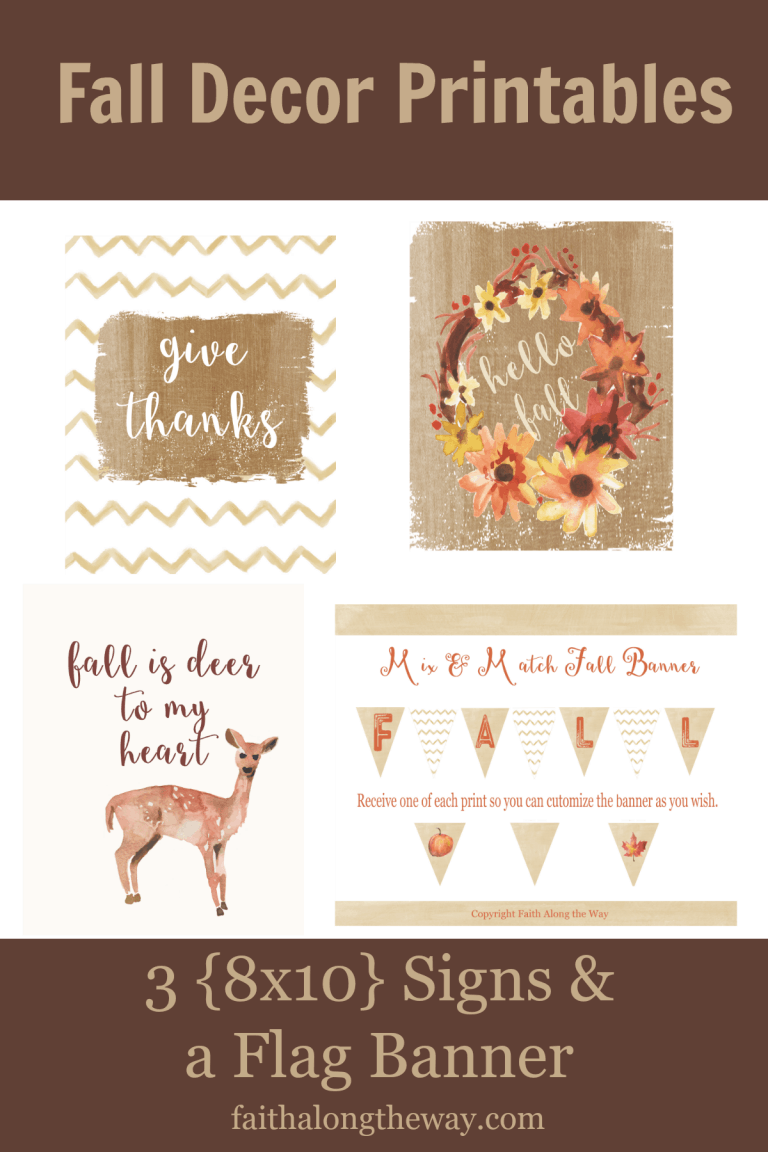 The Ultimate Fall Printable Pack!