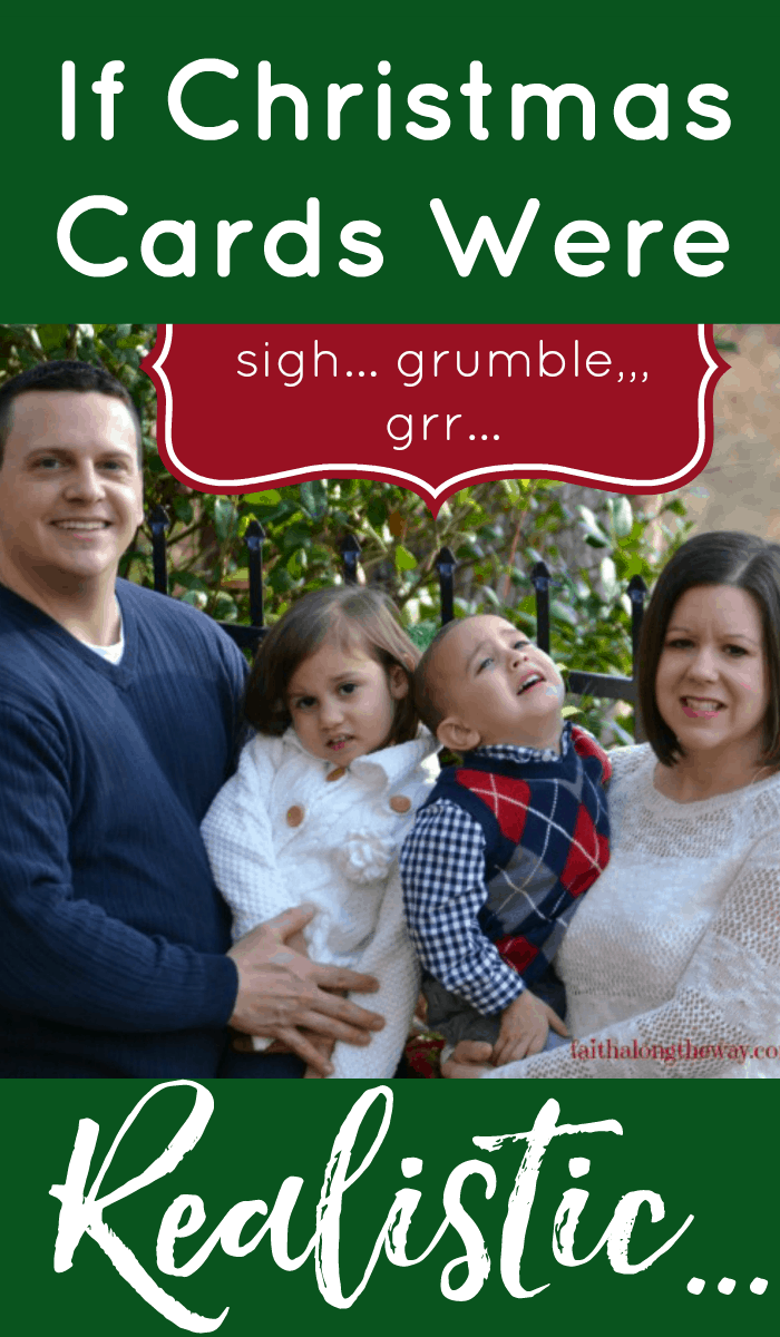 If Christmas cards were realistic, what would they say about your family? Being honest and vulnerable can be a HUGE blessing to a family. Here's why you need to showcase your reality this Christmas.