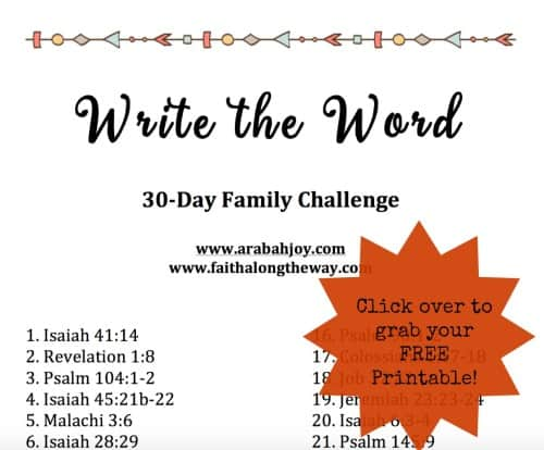 Write the Word: A 30-Day Family Challenge