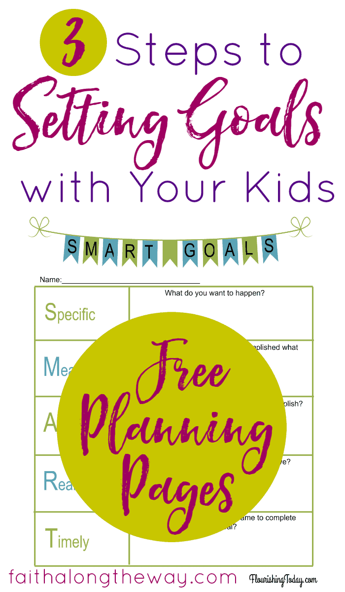 3 Steps to Setting Goals with Your Kids