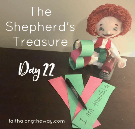 Children will love finding their Shepherd making a chain of thanks!