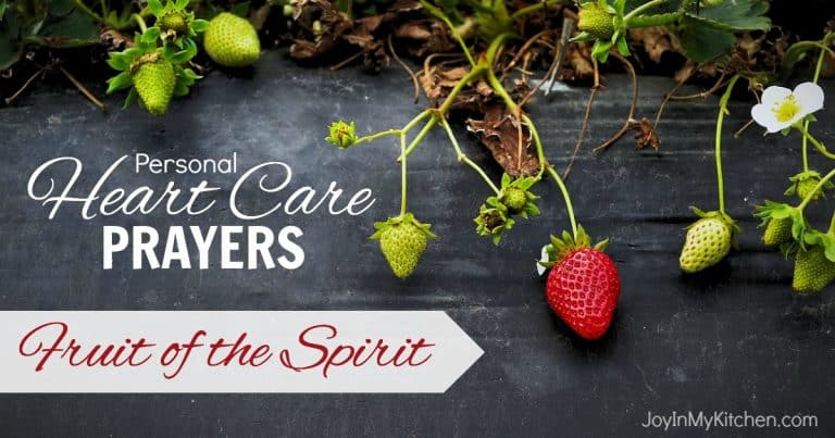 Praying the Fruit of the Spirit for Your Mom Heart