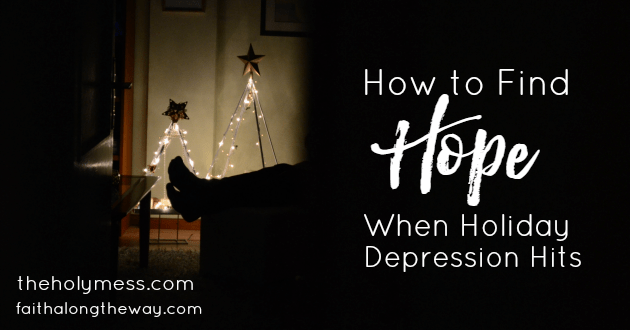 Don't let hope be in short supply this holiday, even when you're battling depression.