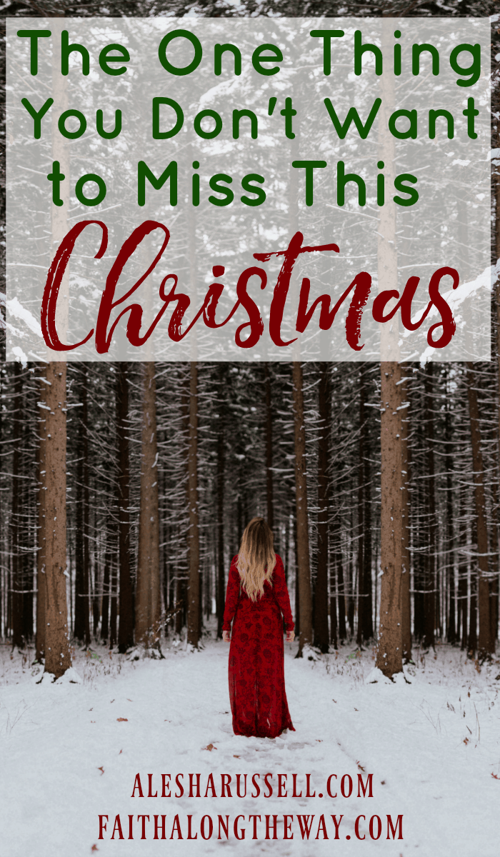 Don't let the hustle and bustle of the holidays keep you from missing this crucial part of Christmas.