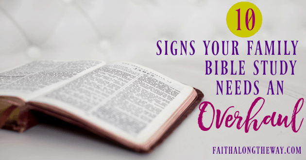 If these signs sound familiar, your family Bible study plan needs an overhaul. Here's the free resource you need to take back your family Bible study.