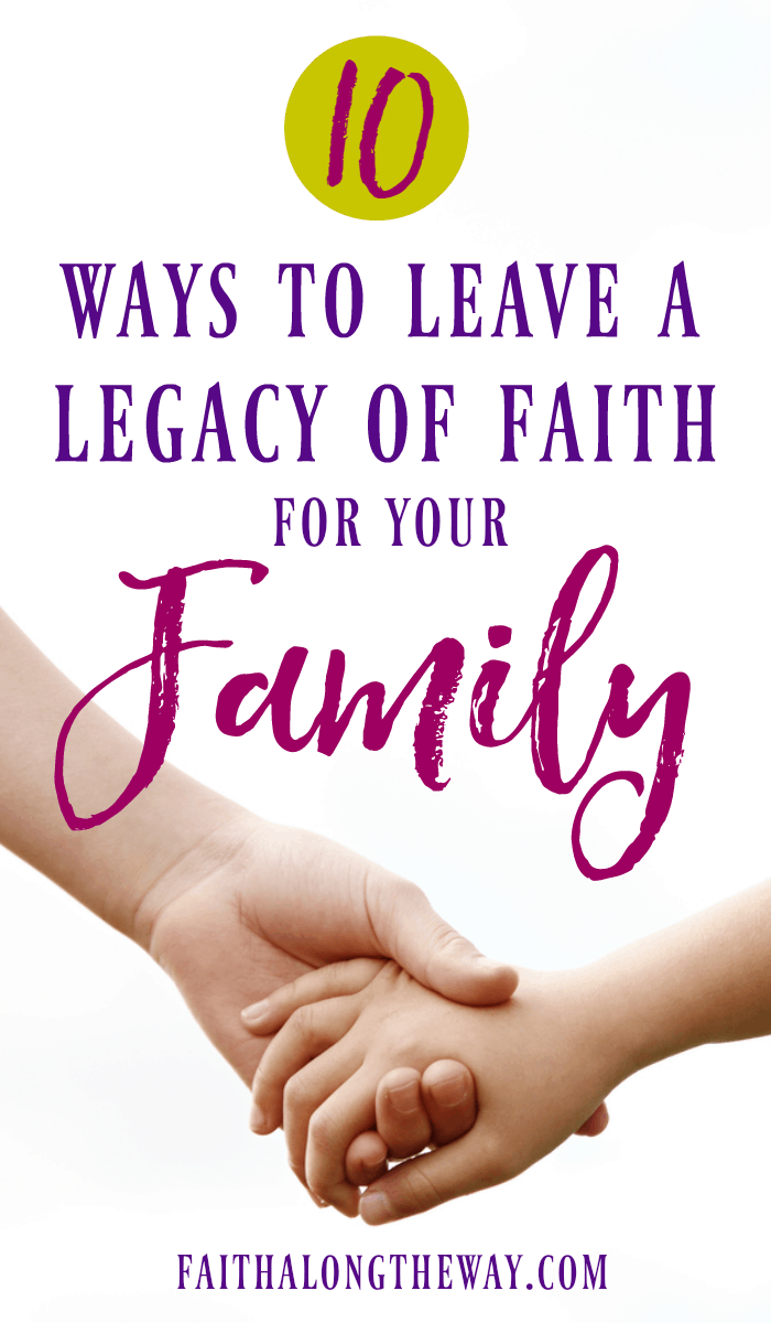 Learning to leave a legacy of faith has never been more practical. These simple lessons will teach you how to live a life with intentional faith.