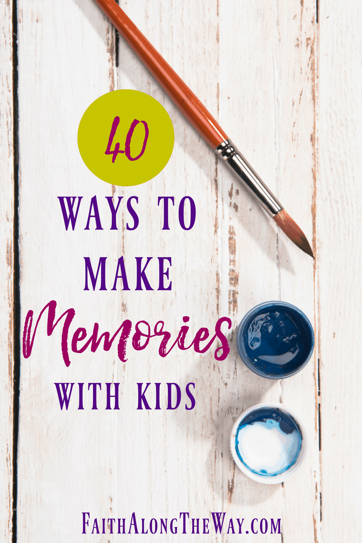 Have fun together as a family with these 40 ways to make memories with kids. This list has some frugal family dates. It also lists suggestions for free family dates, too! Enjoy!