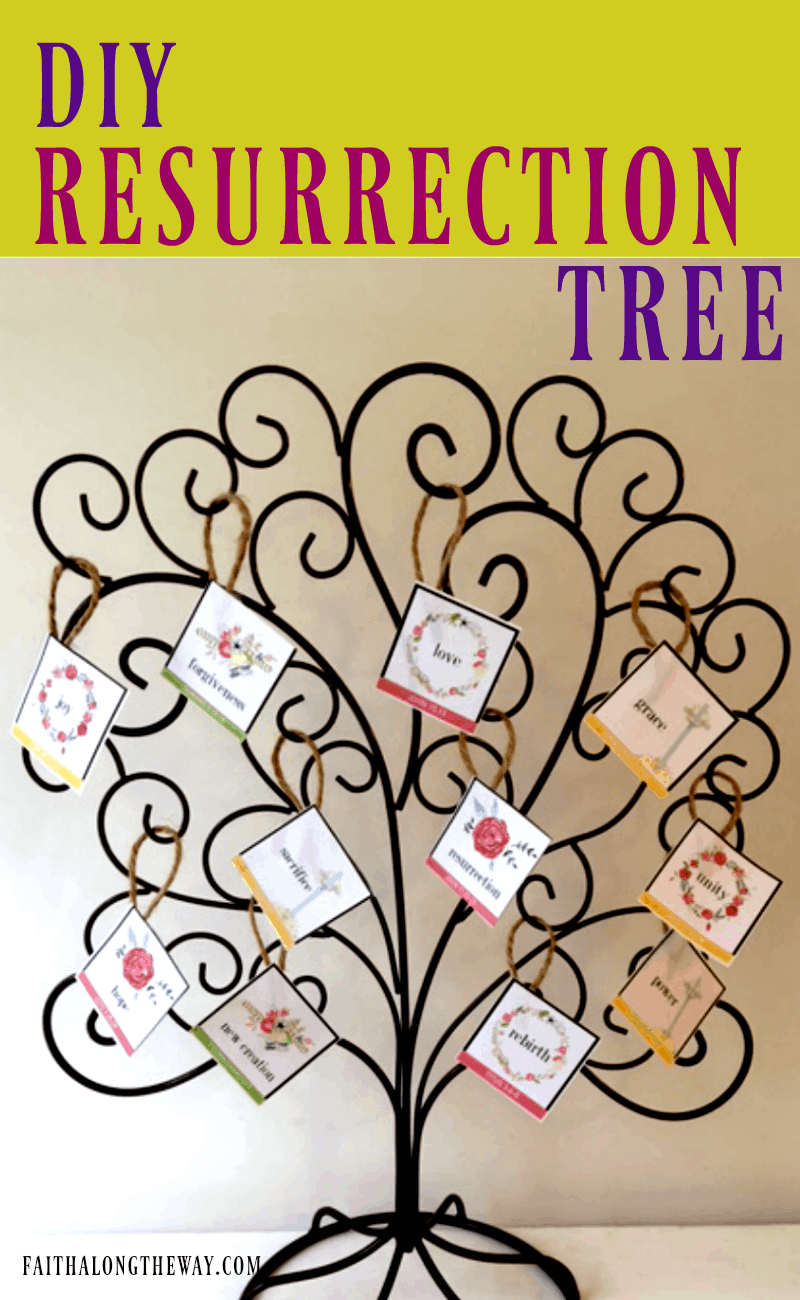 Celebrate the true meaning of Easter with a DIY Resurrection Tree. It's easy to teach kids about God and make the true meaning of Easter come alive!