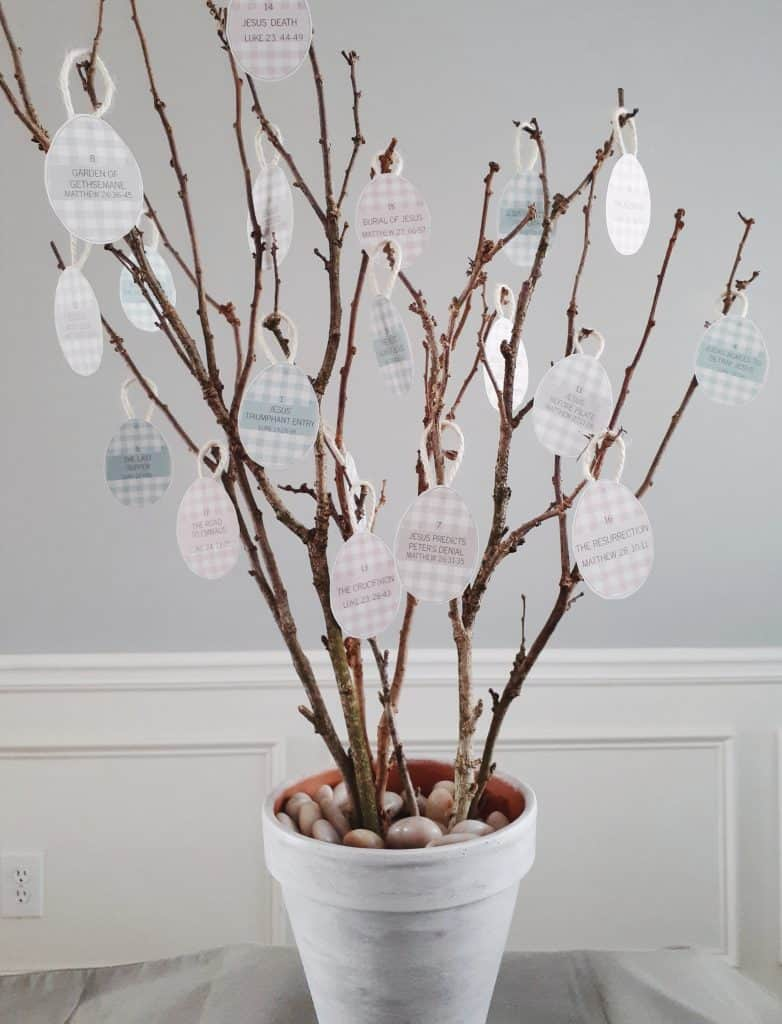Resurrection Tree as a simple Christ-centered Easter activities for families