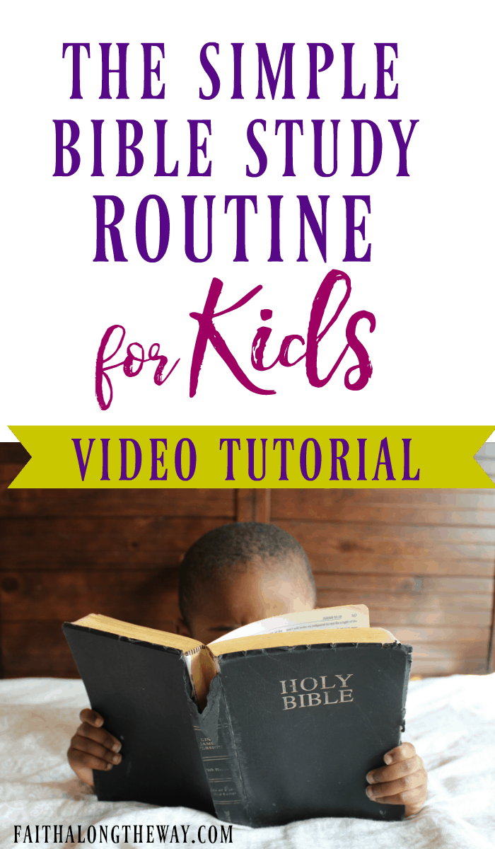 Bible study with kids doesn't have to be hard. In fact, this video tutorial will show you how to structure your family devotion time and create a system of little prep activities, too!