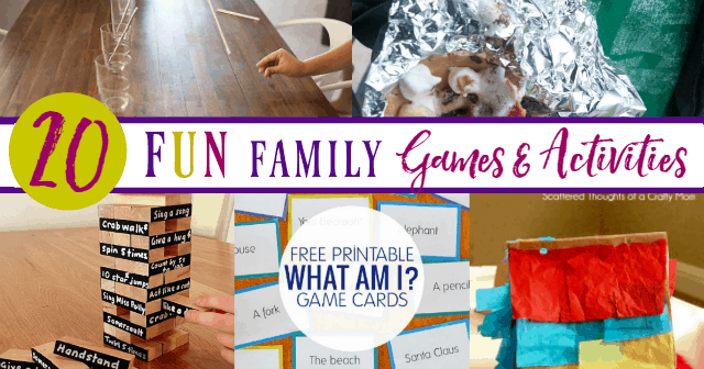 20 Fun Family Games & Activities