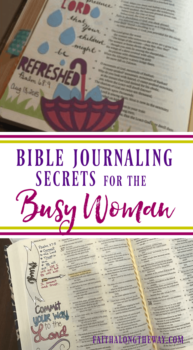Don't let time or lack of art skills stand in the way growing in faith through Bible journaling! These practical tips will help you dig into God's word and worship through art even when life is busy.