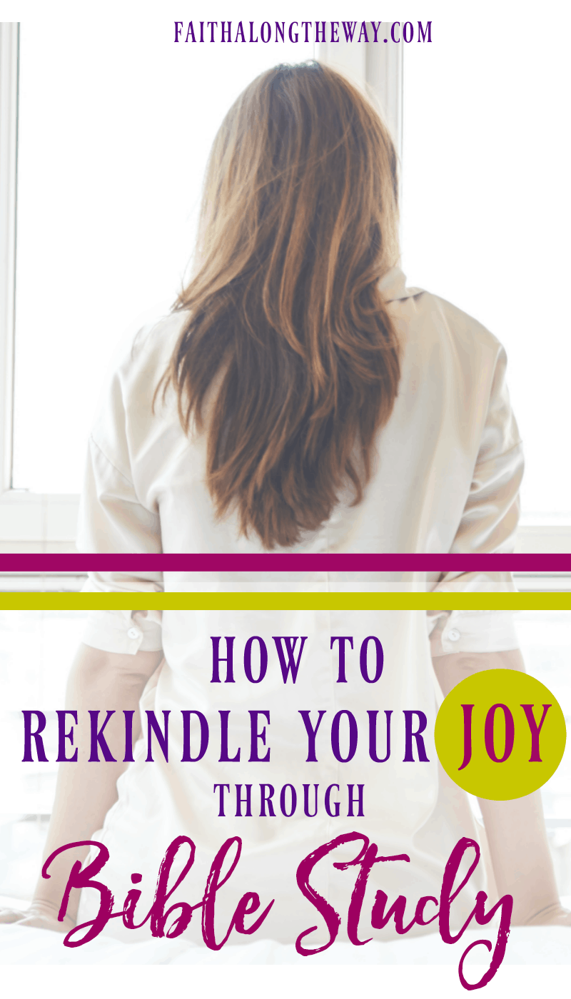 Have you lost your joy and need God to refresh your soul? Here's how you can rekindle your joy through Bible study (even when life is busy and your schedule is packed!) Having a quiet time is self-care for your soul and crucial to resting in God's promises.