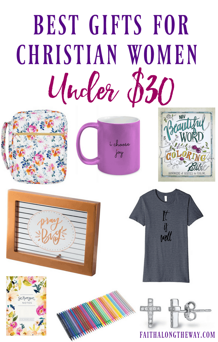 Celebrate the Christian woman in your life with a frugal, but special gift. No matter the occasion, these #giftideas will help her feel appreciated and ignite her #faith. #faith #giftguide #Christianwomengiftguide #Christian gifts #Bible #Biblejournalingsupplies