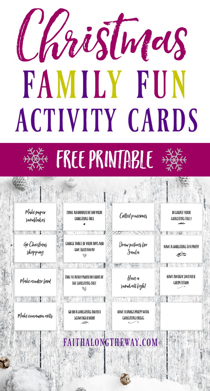 Celebrate #Christmas with these #familyfun ideas. These simple., yet creative activities will help you enjoy your #holiday and make memories as a family. #freeprintable #Christmasactivities #kidsideas