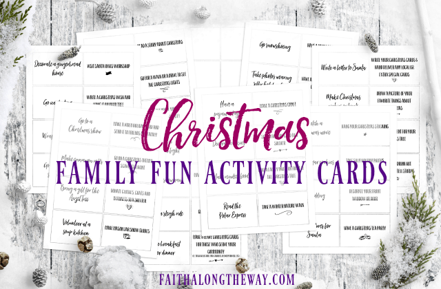 Christmas Family Fun Activity Cards- Free Printable