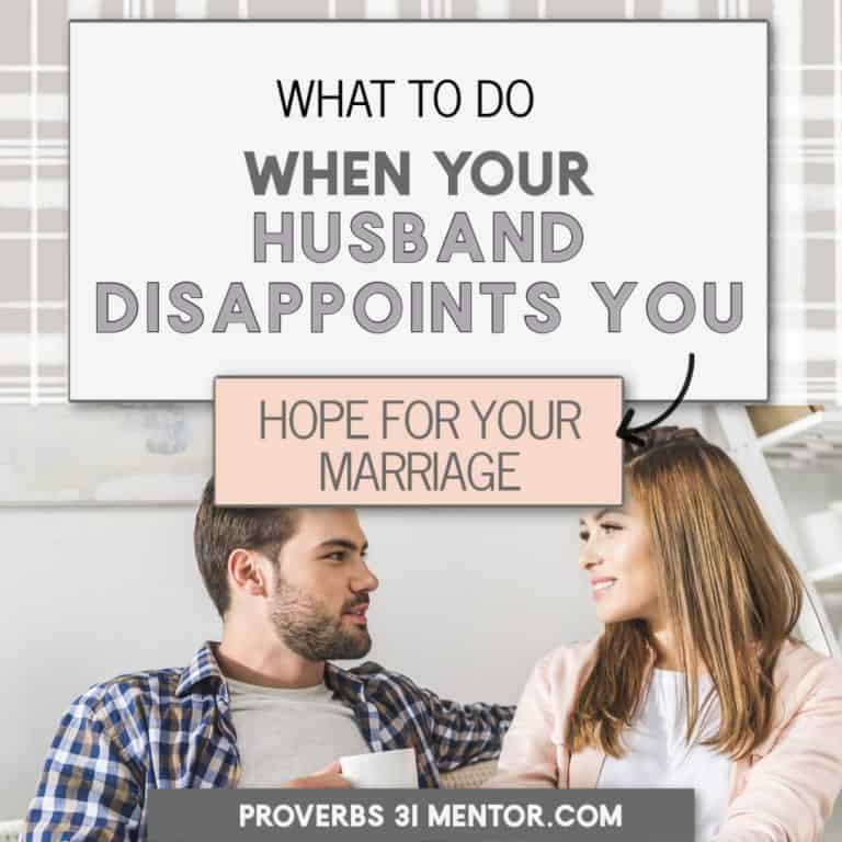 What to Do When Your Husband Disappoints You