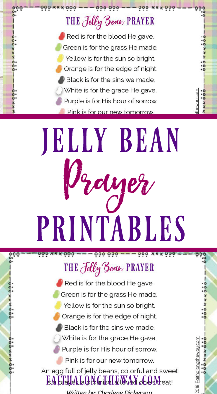 Teach your kids about the real meaning of Easter with the Jelly Bean Prayer! Come grab your free printables! Easter I Easter crafts I jelly bean prayer I jelly bean prayer printable I Christian Easter ideas II Faith Along the Way #easter #eastercrafts #printable