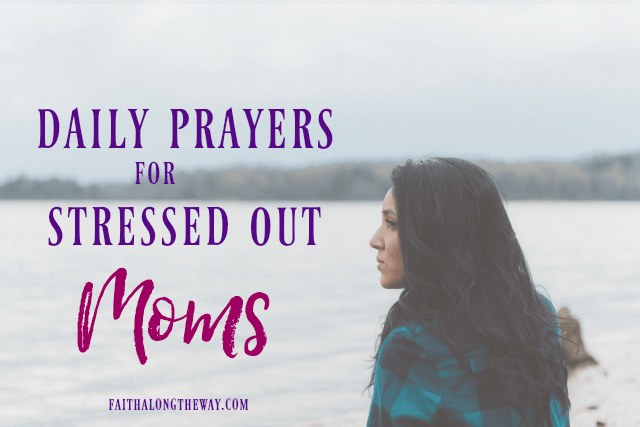 Don't let the stress of mom life leave you feel defeated. Praying is a great form of stress relief and a way to rekindle your joy in motherhood. | prayers for mom | prayers for motherhood | daily prayer mornings | war room ideas | prayers || Faith Along the Way #prayers #prayerlife #mom #motherhood #momlife #prayersformom #warroom #warroomprayers #faith #Christianwomen