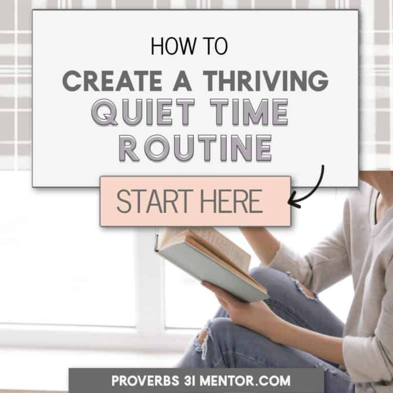 How to Create a Thriving Quiet Time Routine