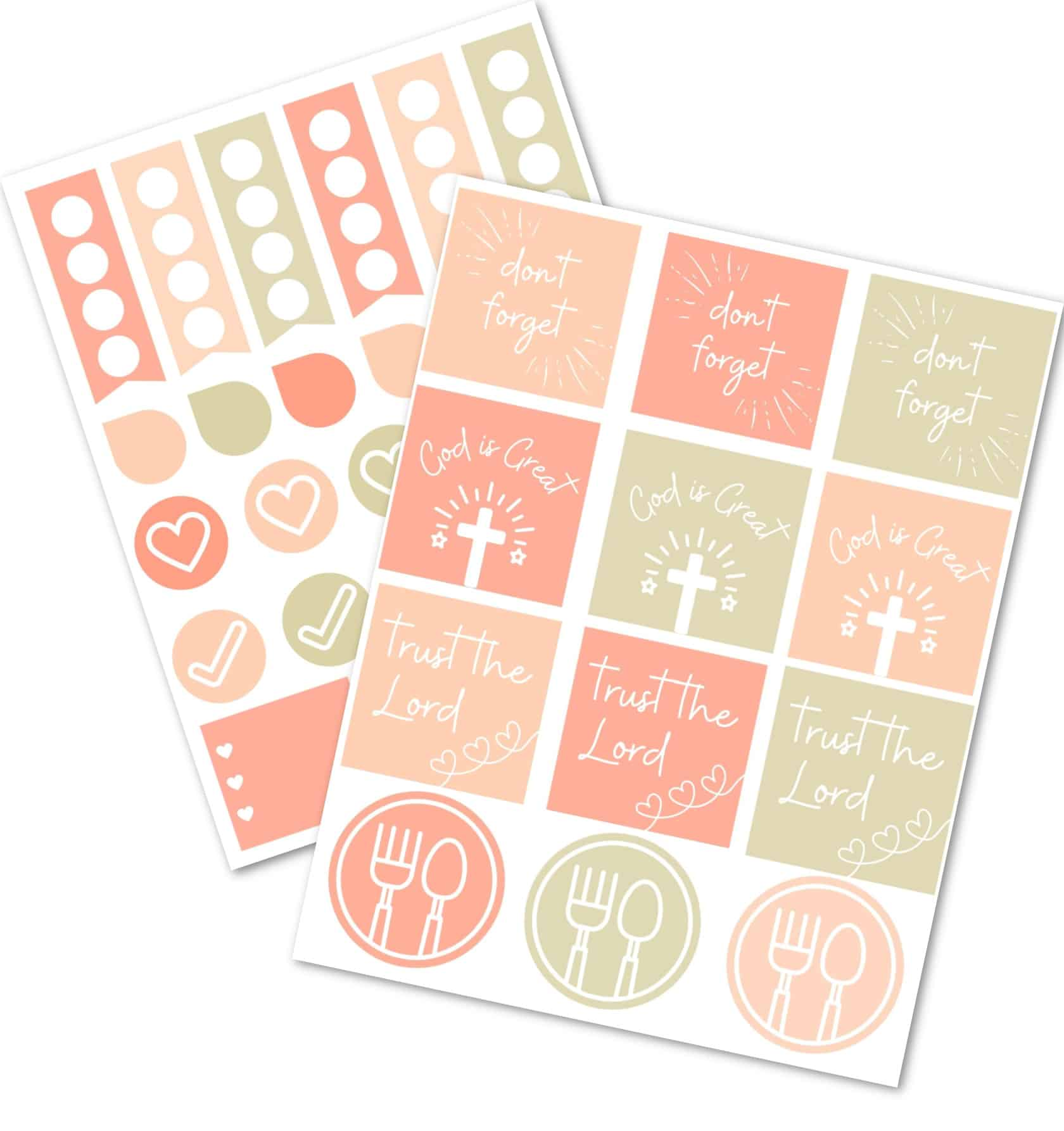 picture of the Abundant Life Planner Digital Stickers for Christian Women